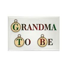 Christmas Grandma To Be Rectangle Magnet