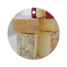 Cheese selection - Round Ornament