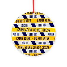 Crime scene tape - Round Ornament