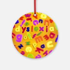 Dyslexia - Round Ornament