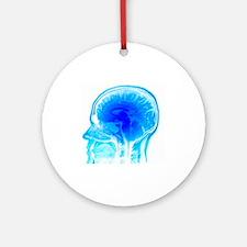 Brain anatomy, MRI scan - Round Ornament
