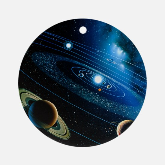 Artwork of the solar system - Round Ornament