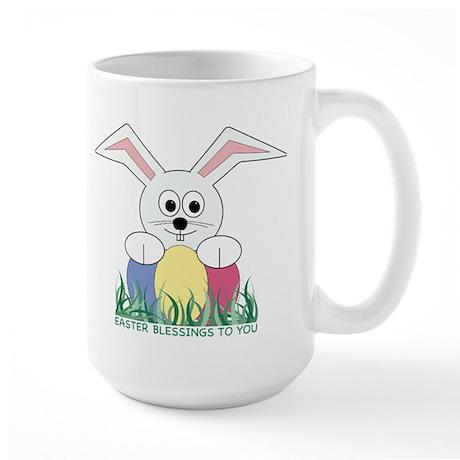 Easter Bunny Blessings Large Mug