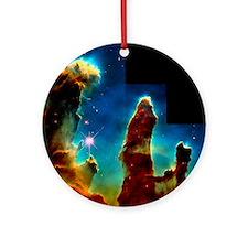 Gas pillars in Eagle Nebula - Round Ornament