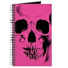 Pink Skull Face Journal