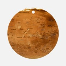 Mars topographical map, satellite image - Round Or