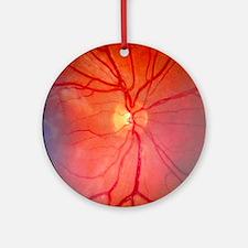 Normal retina of eye - Round Ornament