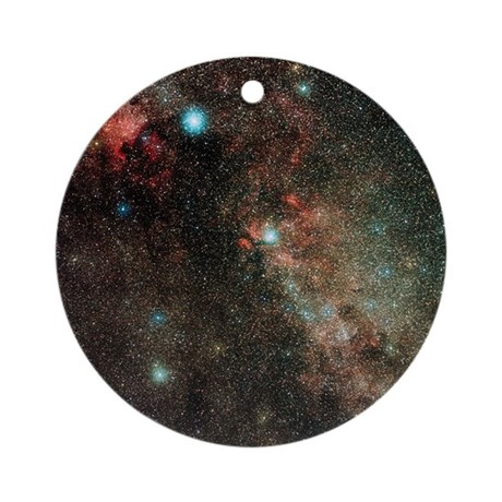 Milky way in cygnus round ornament by sciencephotos - Ornament tapete weiay ...