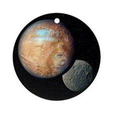Pluto and Charon - Round Ornament