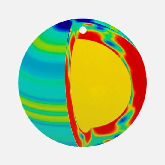 SOHO image of solar (Sun) rotation rate with depth