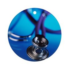 Stethoscope - Round Ornament
