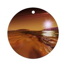 Water on Mars - Round Ornament