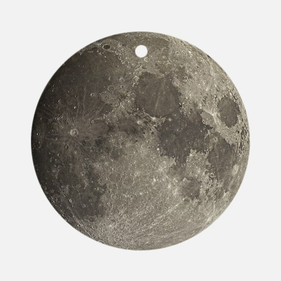 Waxing gibbous Moon - Round Ornament