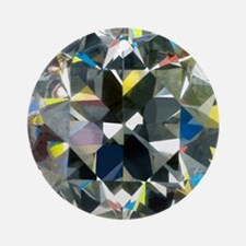 Cut and polished diamond - Round Ornament
