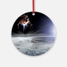 Apollo 11 Moon landing, computer artwork - Round O
