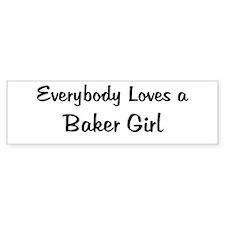 Baker Girl Bumper Bumper Sticker