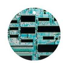 Circuit board with microprocessors, etc - Round Or