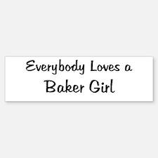Baker Girl Bumper Bumper Bumper Sticker