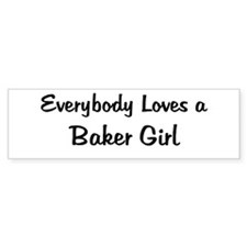 Baker Girl Bumper Bumper Sticker