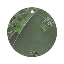 Ellis and Liberty Islands, aerial image - Round Or