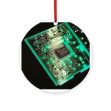 Computer circuit board - Round Ornament