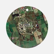 Menwith Hill spy base, aerial image - Round Orname