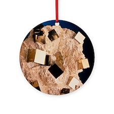 Sample of pyrite - Round Ornament
