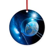 Sputnik 1 satellite - Round Ornament