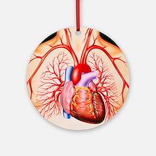 Human heart, artwork - Round Ornament