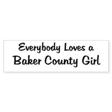 Baker County Girl Bumper Bumper Sticker