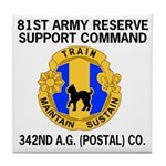 342nd Postal Company Tile Drink Coaster