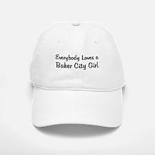 Baker City Girl Baseball Baseball Cap