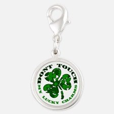 Funny Irish Silver Round Charm