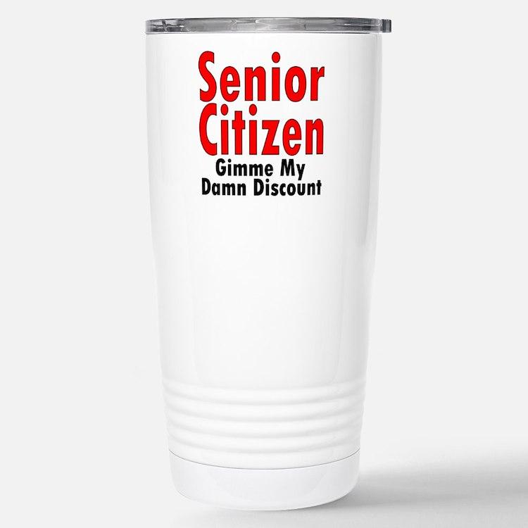 Cute Senior citizen Travel Mug
