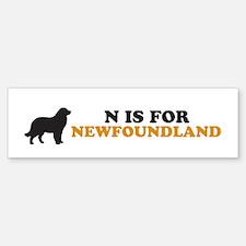 """N is for Newfoundland"" Bumper Bumper Bumper Sticker"