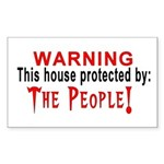 Protected By: Rectangle Sticker