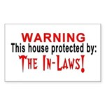 Protected By: The In laws Rectangle Sticker