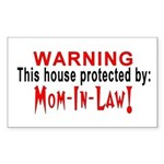 Protected By: Mom-in-law Rectangle Sticker