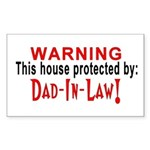 Protected By: Dad-In-Law Rectangle Sticker