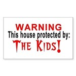 Protected By: The Kids Rectangle Sticker