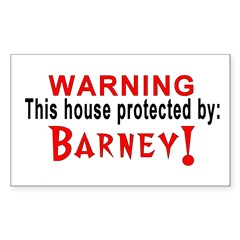 Protected By: Barney Rectangle Decal
