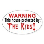 Protected By: The Kids Oval Sticker