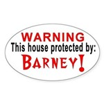 Protected By: Barney Oval Sticker