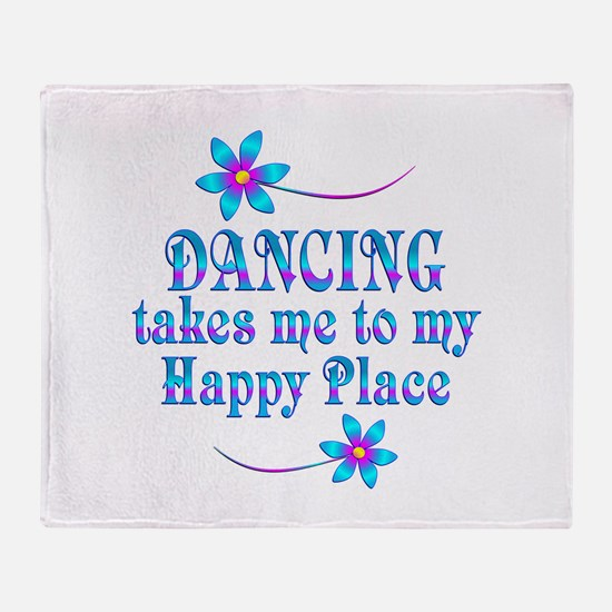 Dancing My Happy Place Throw Blanket