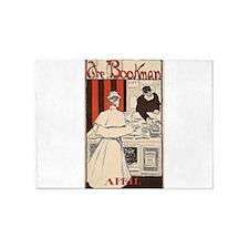 book advertisement 5'x7'Area Rug