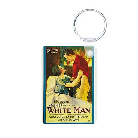 white man Aluminum Photo Keychain