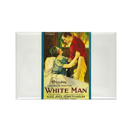 white man Rectangle Magnet