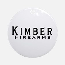 Kimber Firearms Black Font Ornament (Round)