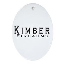 Kimber Firearms Black Font Ornament (Oval)