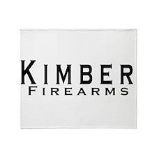 Kimber Firearms Black Font Throw Blanket